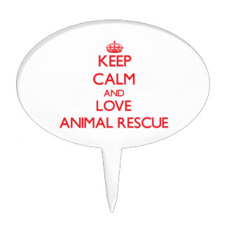 Keep calm and love Animal Rescue Cake Pick