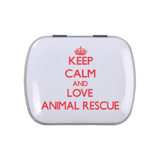 Keep calm and love Animal Rescue Jelly Belly Candy Tin