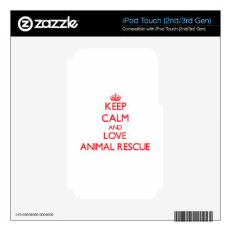 Keep calm and love Animal Rescue Decal For iPod Touch 2G