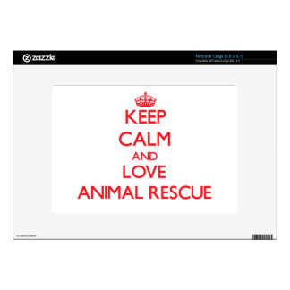 Keep calm and love Animal Rescue Large Netbook Decals