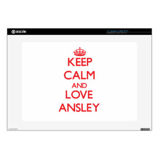 """Keep Calm and Love Ansley 15"""" Laptop Decal"""