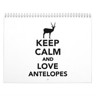 Keep calm and love antelopes calendar