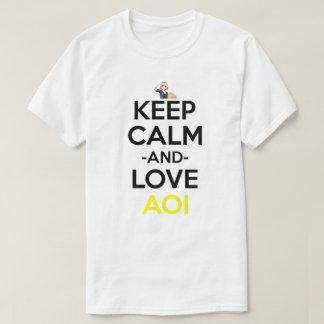 Keep Calm And Love Aoi Anime Manga Shirt