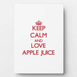Keep calm and love Apple Juice Photo Plaque