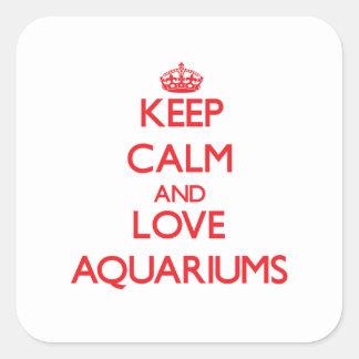 Keep calm and love Aquariums Square Sticker