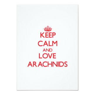 """Keep calm and love Arachnids 5"""" X 7"""" Invitation Card"""