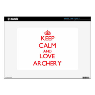 Keep calm and love Archery Skins For Netbooks