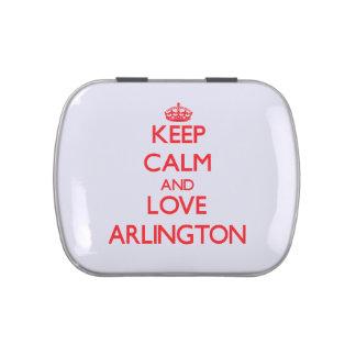 Keep Calm and Love Arlington Jelly Belly Candy Tin