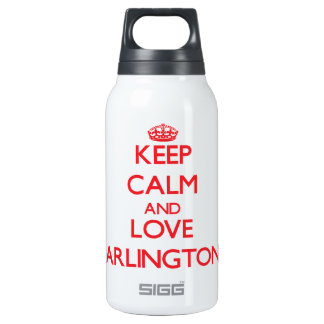 Keep Calm and Love Arlington 10 Oz Insulated SIGG Thermos Water Bottle