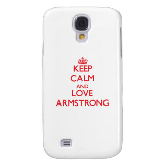 Keep calm and love Armstrong Samsung Galaxy S4 Cover