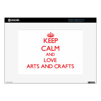 Keep calm and love Arts And Crafts Decals For Netbooks