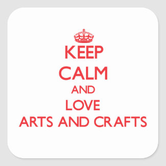 Keep calm and love Arts And Crafts Sticker