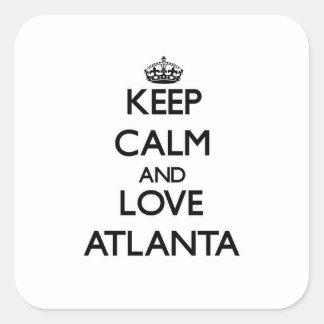 Keep Calm and love Atlanta Square Sticker