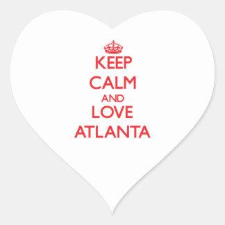 Keep Calm and Love Atlanta Heart Sticker