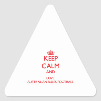 Keep calm and love Australian Rules Football Sticker