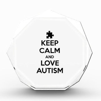 Keep Calm And Love Autism Acrylic Award