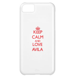 Keep calm and love Avila Case For iPhone 5C