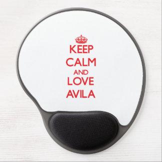Keep calm and love Avila Gel Mouse Pad