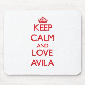 Keep calm and love Avila Mouse Pad