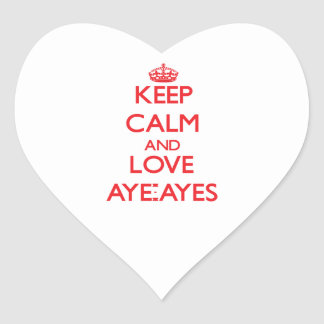 Keep calm and love Aye-Ayes Sticker