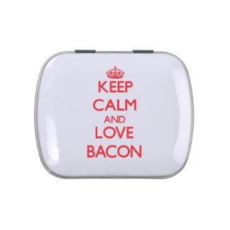Keep calm and love Bacon Candy Tin