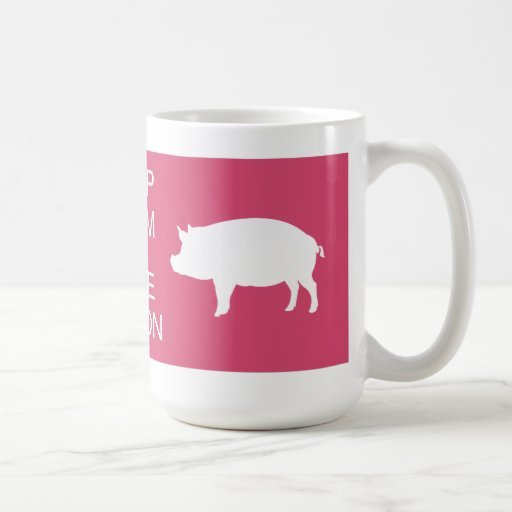 Keep Calm and Love Bacon Mug Cup Drinking Hot Cold