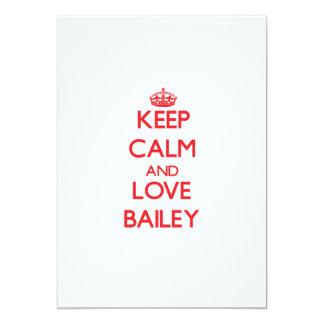 Keep calm and love Bailey 5x7 Paper Invitation Card