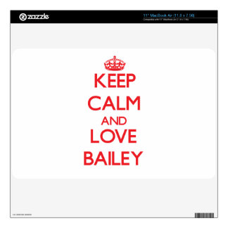 """Keep calm and love Bailey Decal For 11"""" MacBook Air"""