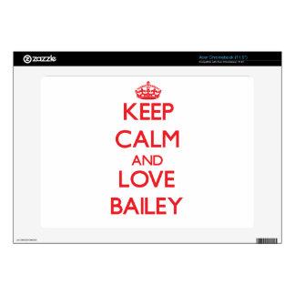 Keep calm and love Bailey Acer Chromebook Skin