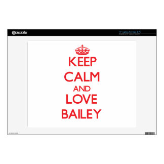 Keep calm and love Bailey Decal For Laptop