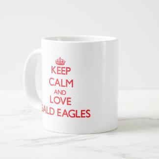 Keep calm and love Bald Eagles 20 Oz Large Ceramic Coffee Mug