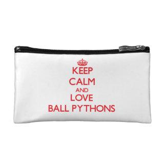 Keep calm and love Ball Pythons Cosmetics Bags