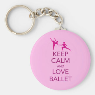 Keep Calm and Love Ballet Gift Print Key Chains