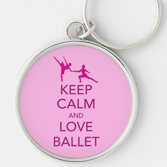 Keep Calm and Love Ballet Gift Print Keychain
