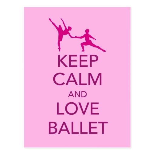 Keep Calm and Love Ballet Gift Print Postcard