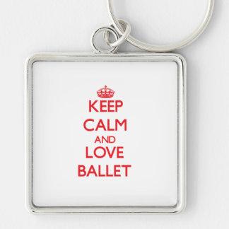 Keep calm and love Ballet Keychain