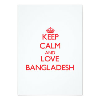 Keep Calm and Love Bangladesh Personalized Invite