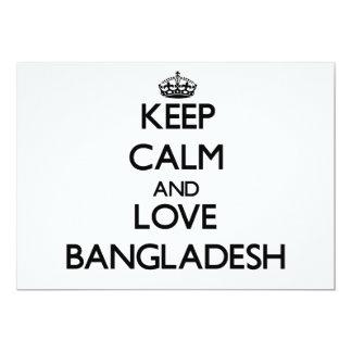 Keep Calm and Love Bangladesh Card