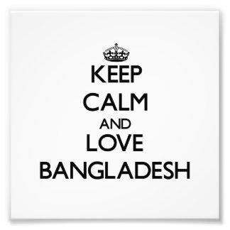 Keep Calm and Love Bangladesh Photo Print