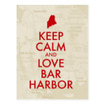 Keep Calm and Love Bar Harbor Postcard