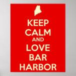 Keep Calm and Love Bar Harbor Print