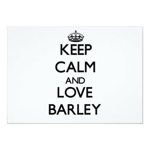 Keep calm and love Barley 5x7 Paper Invitation Card