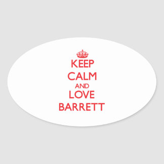 Keep calm and love Barrett Stickers