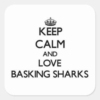 Keep calm and Love Basking Sharks Sticker