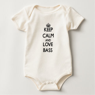 Keep calm and Love Bass Baby Bodysuit