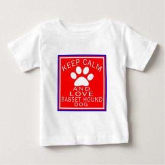 Keep Calm And Love Basset Hound T Shirts