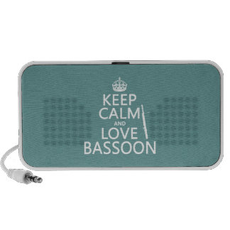 Keep Calm and Love Bassoon (any background color) Mp3 Speaker