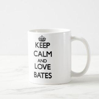 Keep calm and love Bates Coffee Mugs