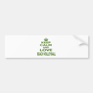 Keep Calm And Love Beach Volleyball Car Bumper Sticker