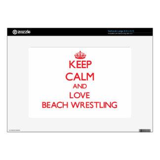 Keep calm and love Beach Wrestling Netbook Skins